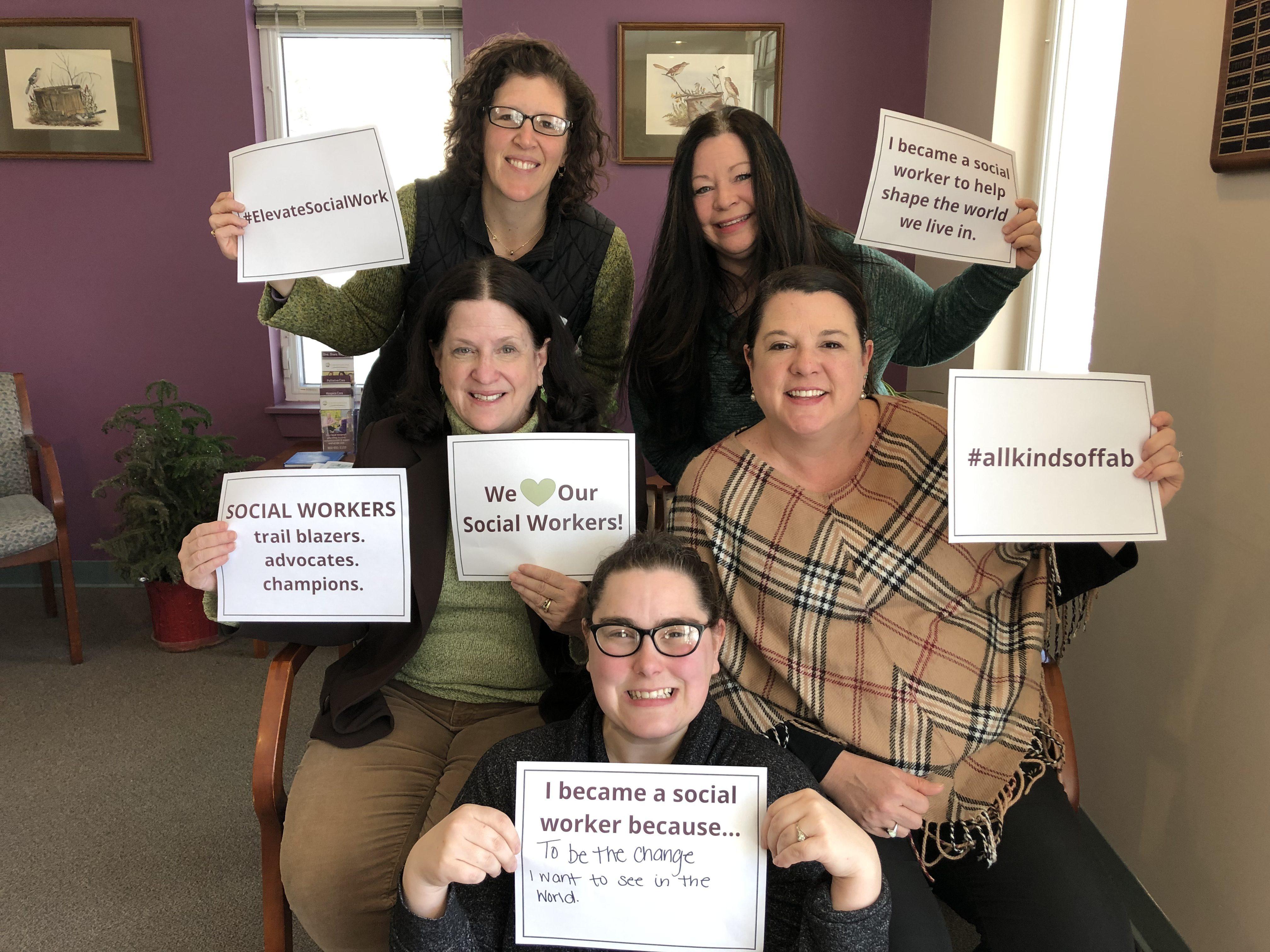Cornerstone VNA Celebrates National Social Work Month